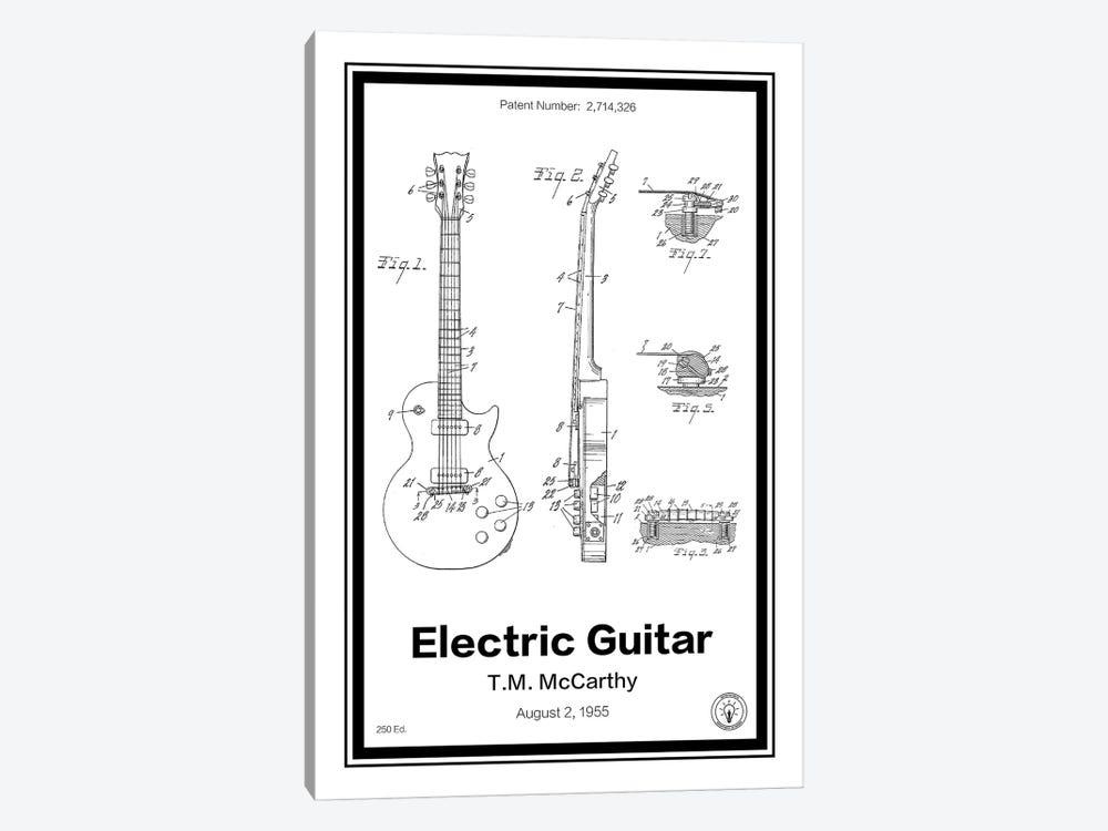Electric Guitar by Retro Patents 1-piece Canvas Art