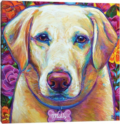 Molly the Blond Lab Canvas Art Print