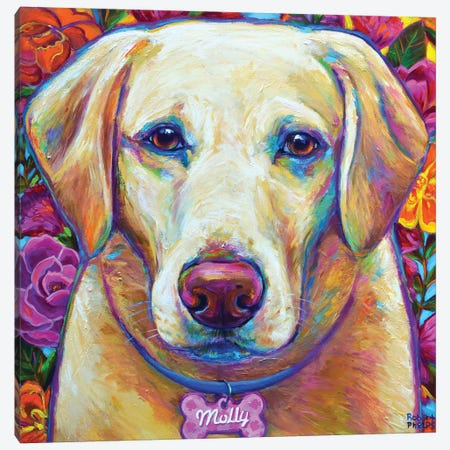 Molly the Blond Lab Canvas Print #RPH101} by Robert Phelps Art Print