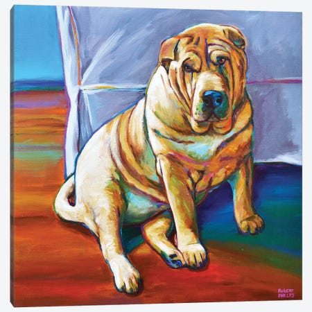 Shar-pei Canvas Print #RPH105} by Robert Phelps Canvas Art