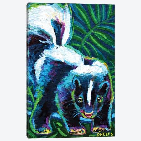 Skunk Canvas Print #RPH108} by Robert Phelps Canvas Art Print