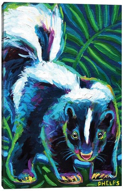 Skunk Canvas Art Print