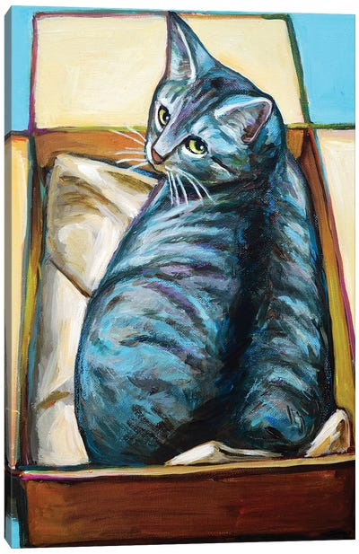 Slinky the Cat Canvas Art Print