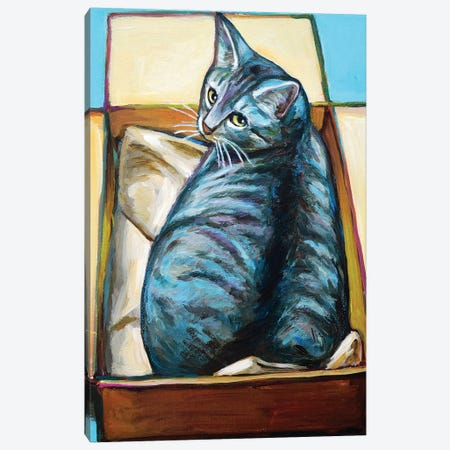 Slinky the Cat Canvas Print #RPH111} by Robert Phelps Canvas Art