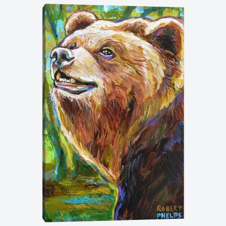 Brown Bear Canvas Print #RPH124} by Robert Phelps Canvas Artwork