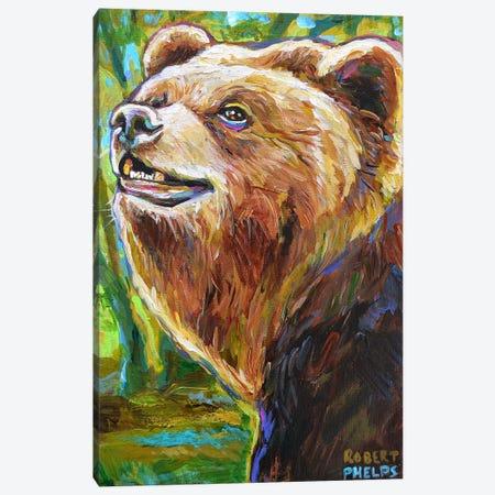 Brown Bear Canvas Print #RPH124} by Robert Phelps Canvas Artwork