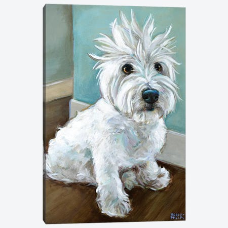 Dude The Westie Canvas Print #RPH129} by Robert Phelps Art Print