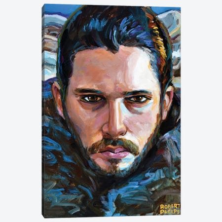 Jon Snow Canvas Print #RPH158} by Robert Phelps Canvas Art