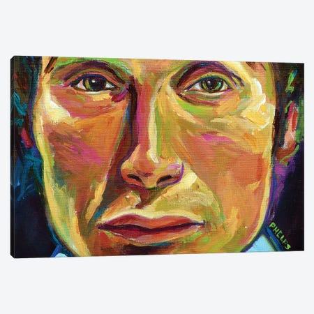 Mads Mikkelsen Canvas Print #RPH159} by Robert Phelps Canvas Artwork