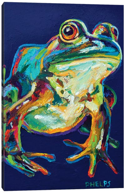 Bullfrog Canvas Art Print