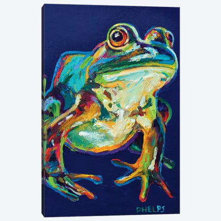 Bullfrog Canvas Print #RPH15} by Robert Phelps Canvas Art