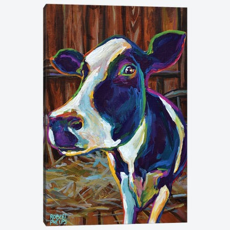 Buttercup In A Barn 3-Piece Canvas #RPH170} by Robert Phelps Canvas Artwork
