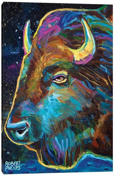 Galactic Buffalo Canvas Art Print