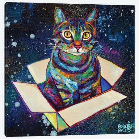 Space Cat Canvas Print #RPH175} by Robert Phelps Canvas Art Print