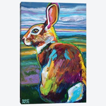 Mountain Rabbit At Dawn Canvas Print #RPH178} by Robert Phelps Canvas Wall Art