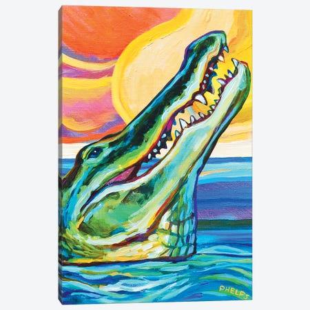 Alligator Canvas Print #RPH1} by Robert Phelps Canvas Art Print