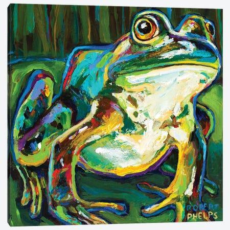 Pond Frog Canvas Print #RPH200} by Robert Phelps Canvas Artwork