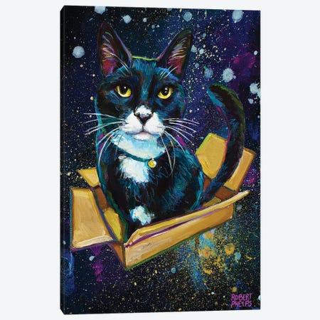 Galactic Tuxedo Kitty Canvas Print #RPH204} by Robert Phelps Canvas Art Print