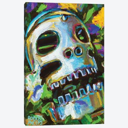Flower Skull 2 Canvas Print #RPH207} by Robert Phelps Canvas Art Print