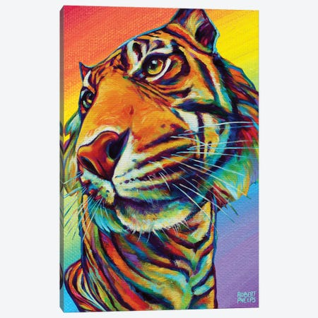 Rainbow Tiger Canvas Print #RPH210} by Robert Phelps Canvas Print