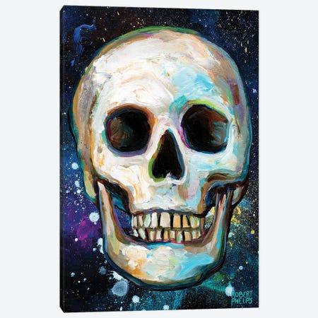 Galactic Skull Canvas Print #RPH215} by Robert Phelps Canvas Art