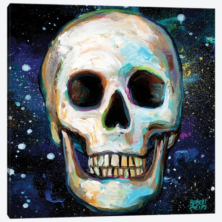 Galactic Skull II Canvas Print #RPH216} by Robert Phelps Canvas Wall Art