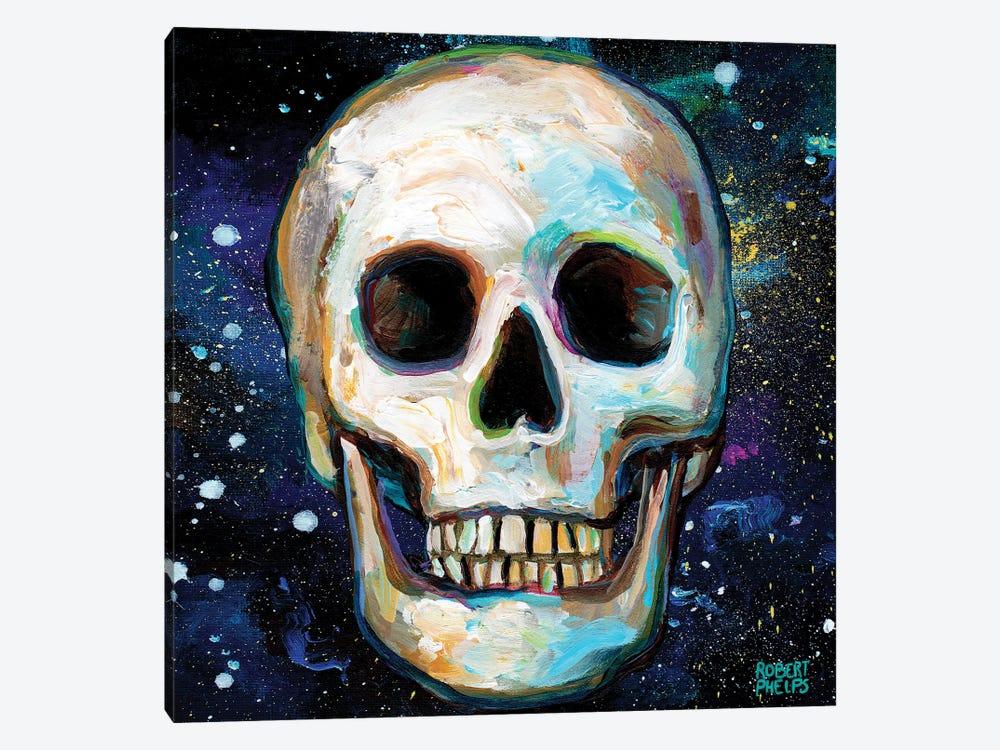 Galactic Skull II by Robert Phelps 1-piece Canvas Art