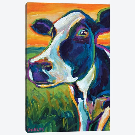 Cow Canvas Print #RPH21} by Robert Phelps Canvas Art