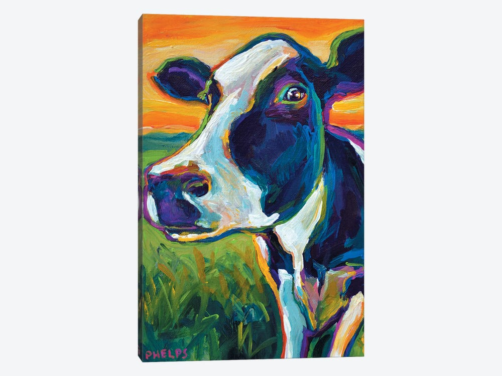 Cow by Robert Phelps 1-piece Canvas Print