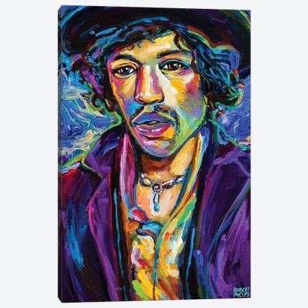 Jimi Hendrix I Canvas Print #RPH228} by Robert Phelps Canvas Art