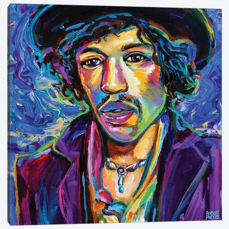 Jimi Hendrix II Canvas Print #RPH229} by Robert Phelps Canvas Wall Art