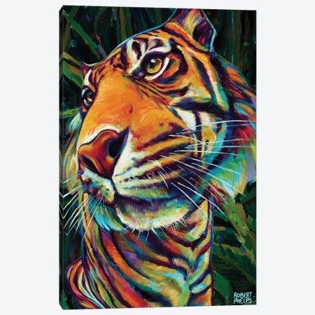 Jungle Tiger Canvas Print #RPH232} by Robert Phelps Art Print
