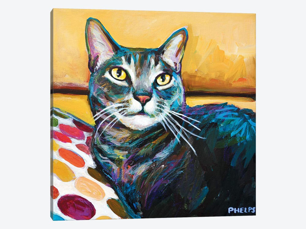 Cy The Cat by Robert Phelps 1-piece Canvas Print