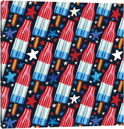 Rocket Pop Pattern Canvas Art Print