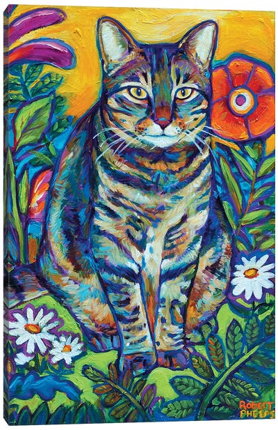 Garden Cat Canvas Art Print