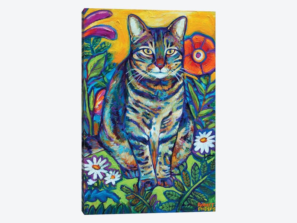 Garden Cat by Robert Phelps 1-piece Canvas Art Print