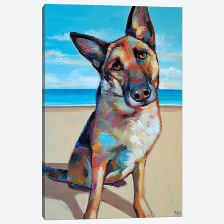 German Shepherd Canvas Print #RPH33} by Robert Phelps Canvas Art Print