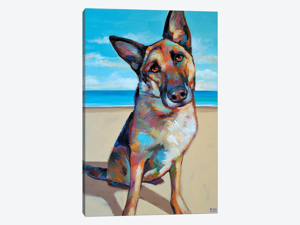 German Shepherd by Robert Phelps 1-piece Canvas Artwork