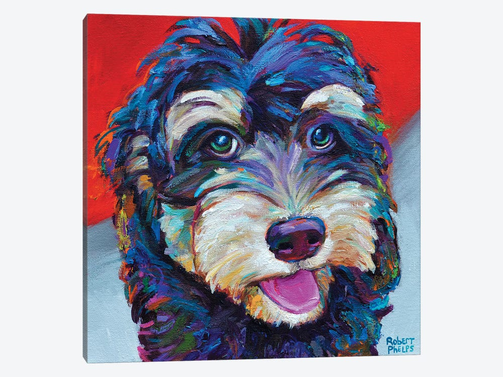 Labradoodle by Robert Phelps 1-piece Canvas Art