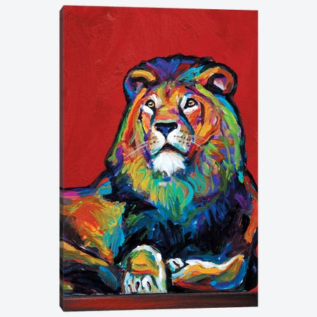 Lion Canvas Print #RPH45} by Robert Phelps Canvas Print