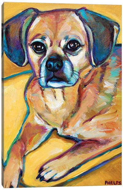 Puggle Canvas Art Print