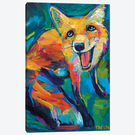 Red Fox Canvas Print #RPH58} by Robert Phelps Canvas Print