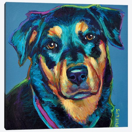 Rottweiler Canvas Print #RPH59} by Robert Phelps Art Print