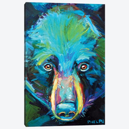 Spirit Bear Canvas Print #RPH68} by Robert Phelps Canvas Wall Art