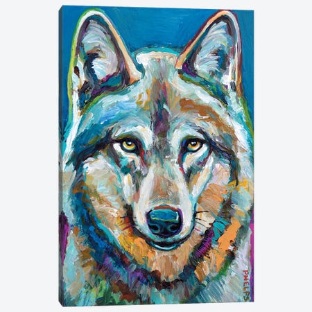 Spirit Wolf Canvas Print #RPH69} by Robert Phelps Canvas Artwork