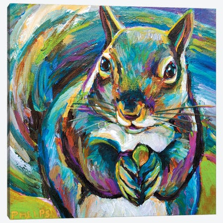 Squirrel Canvas Print #RPH70} by Robert Phelps Canvas Art Print