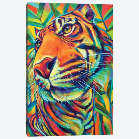 Tiger Canvas Print #RPH74} by Robert Phelps Canvas Artwork