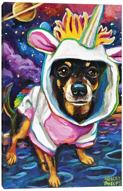 Chihuahua in Space Canvas Art Print