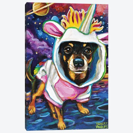 Chihuahua in Space 3-Piece Canvas #RPH88} by Robert Phelps Canvas Art