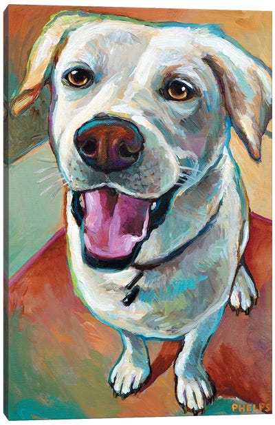Blond Lab Canvas Art Print